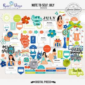 Note To Self July | Elements