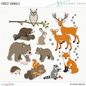 Forest Animals Layered Templates (CU)