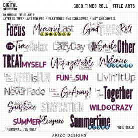 Good Times Roll | Title Arts