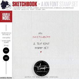 Sketchbook Font | Stamps
