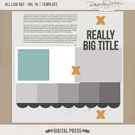 All Laid Out - Vol 18 | Template